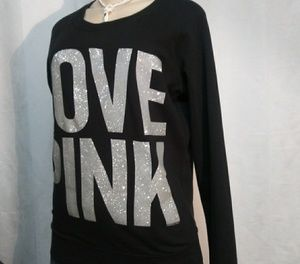 PINK SWEATER BLACK SIZE S/P
